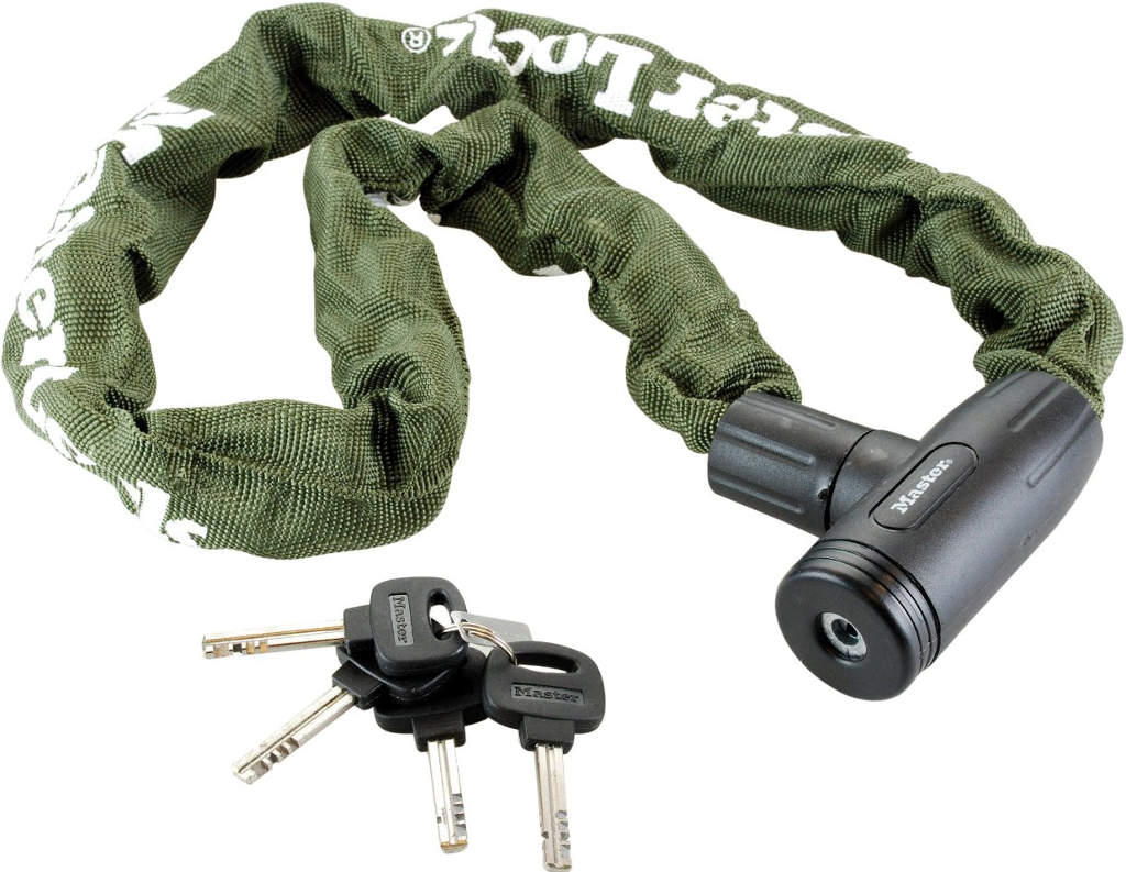 Master Lock Hardened Steel Chain with Integrated Key Lock and Nylon Cover