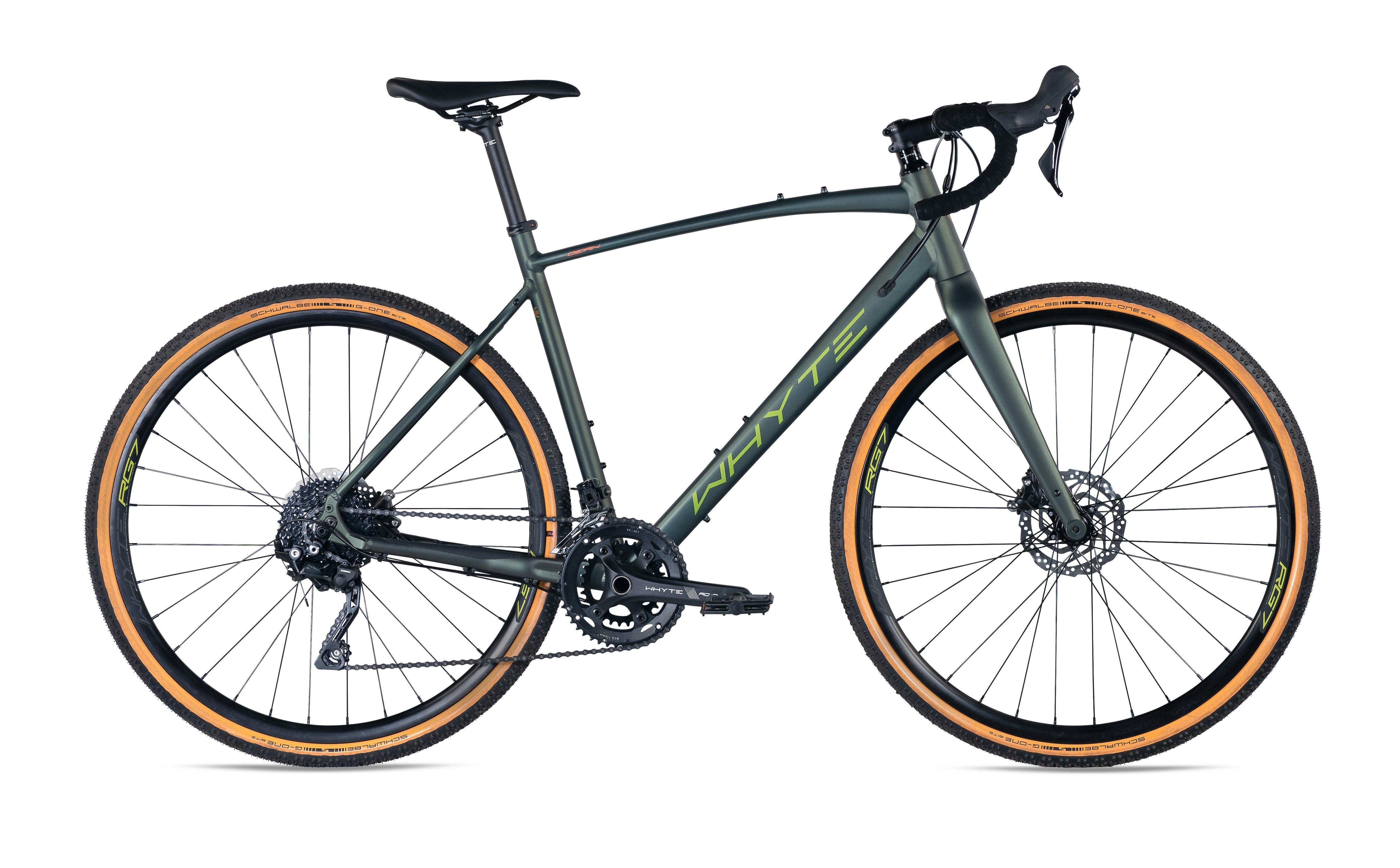 Whyte Dean Shimano 10spd Gravel Bike 2022 Matt Moss Olive/Burnt Orange