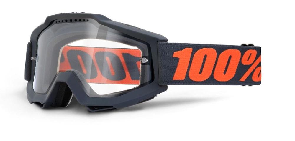 100 Percent Accuri Enduro Mtb Goggles Gunmetal/clear Vent Dual Lens