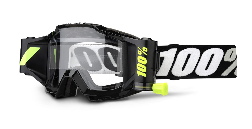 100 Percent Accuri Forecast Youth Goggles Black/clear Lens