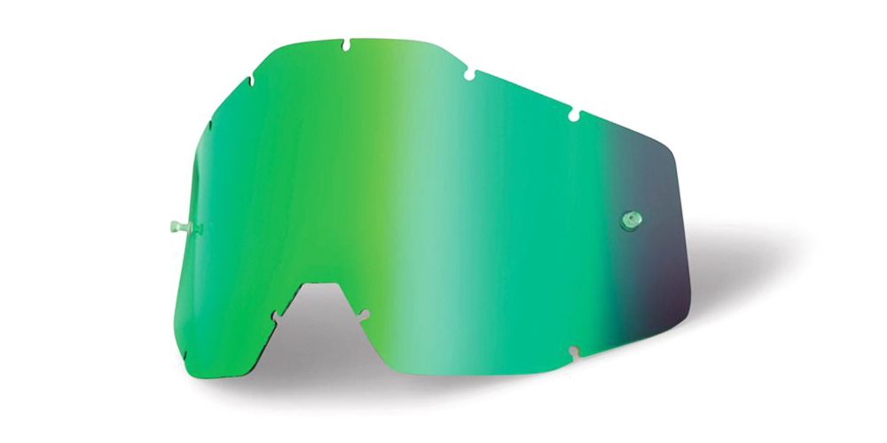 100 Percent Accuri/racecraft/strata Anti-fog Lens Gold Mirror