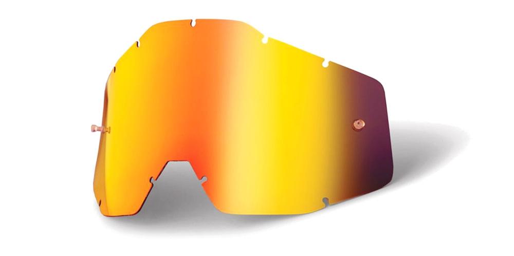 100 Percent Accuri/racecraft/strata Anti-fog Lens Pink/smoke Mirror