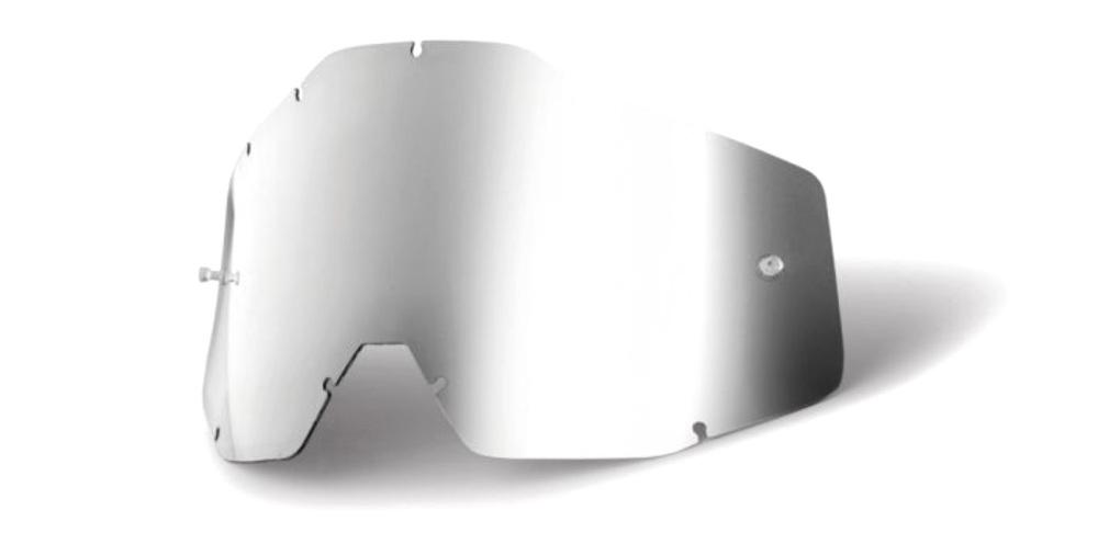 100 Percent Accuri/racecraft/strata Anti-fog Lens Red/mirror Smoke