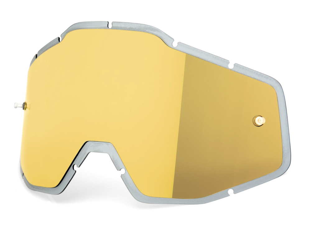 100 Percent Racecraft/accuri/strata Anti-fog Injected Lens Gold Mirror