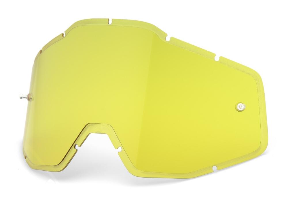 100 Percent Racecraft/accuri/strata Vent Dual Pane Lens Silver Mirror