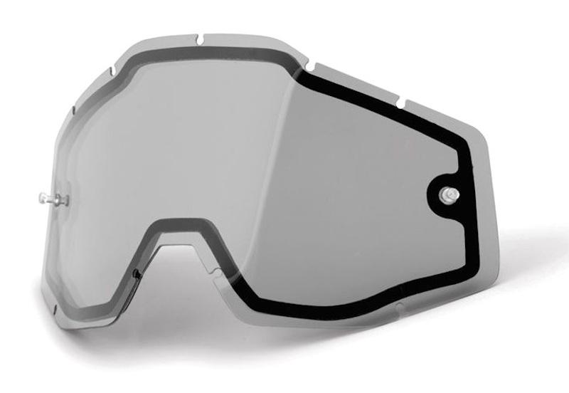 100 Percent Racecraft/accuri/strata Vented Dual Pane Lens Blue Mirror