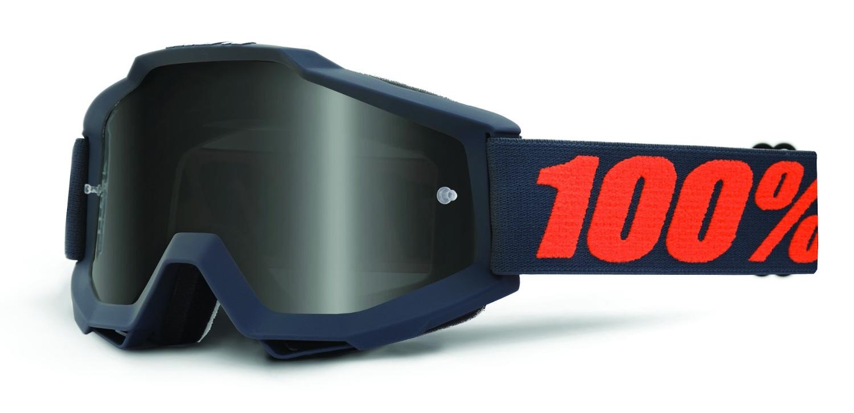 100 Percent Accuri Sand Goggles Fluo Yellow/grey Smoke Lens