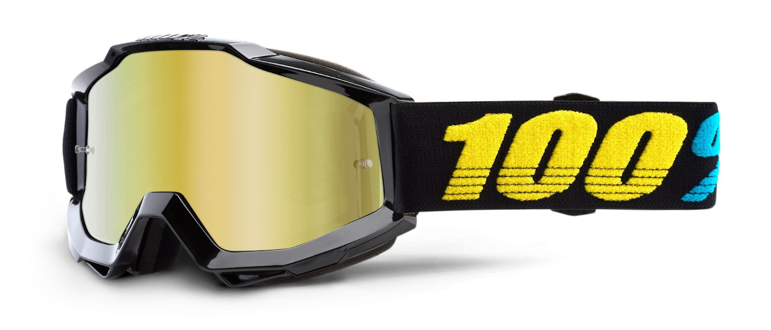 100 Percent Accuri Clear Lens Goggles Flourscent Yellow