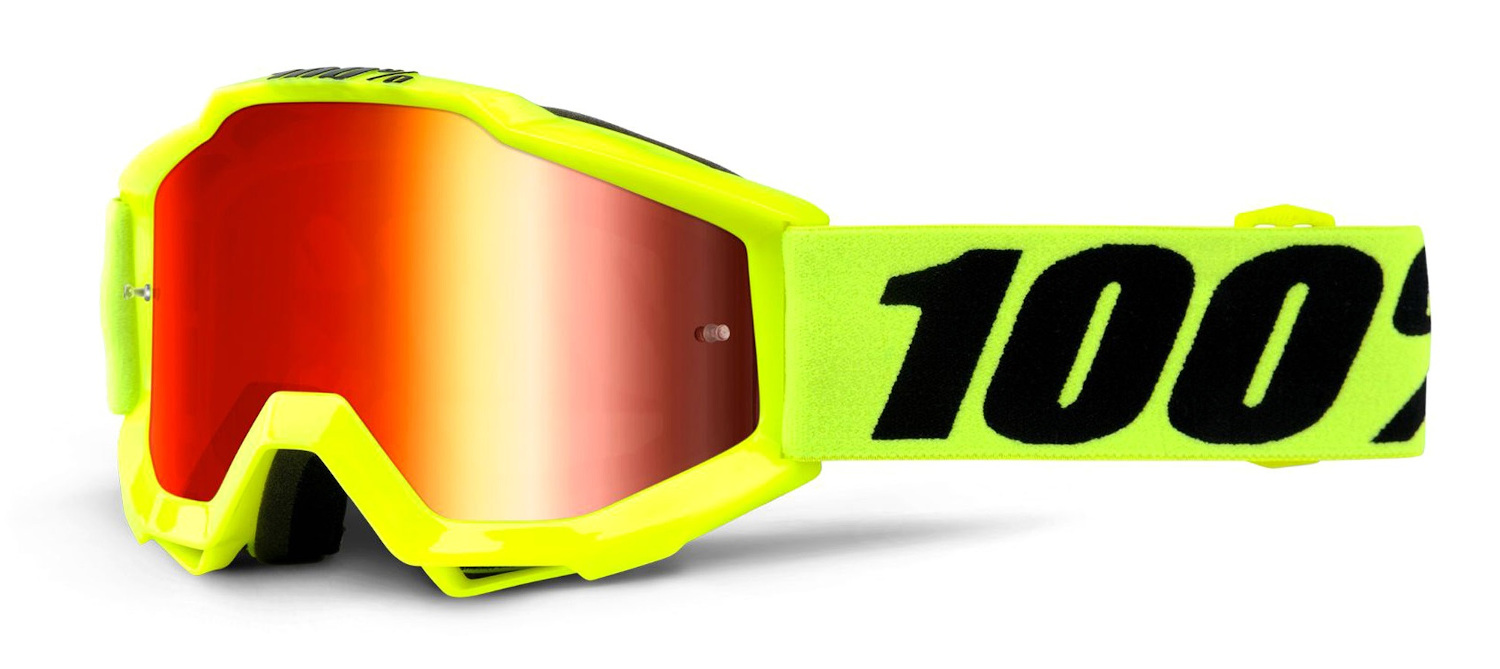 100 Percent Accuri Youth Goggles Fluo Yellow/clear Lens