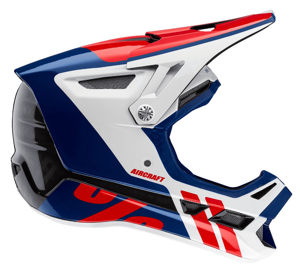 100 Percent Aircraft Carbon MIPS Full Face Helmet Fusion Ripper Navy