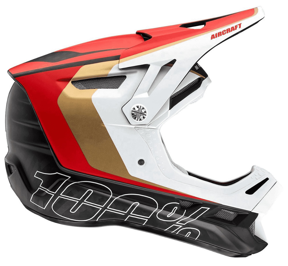 100 Percent Aircraft Carbon Mips Full Face Helmet Ltd Red