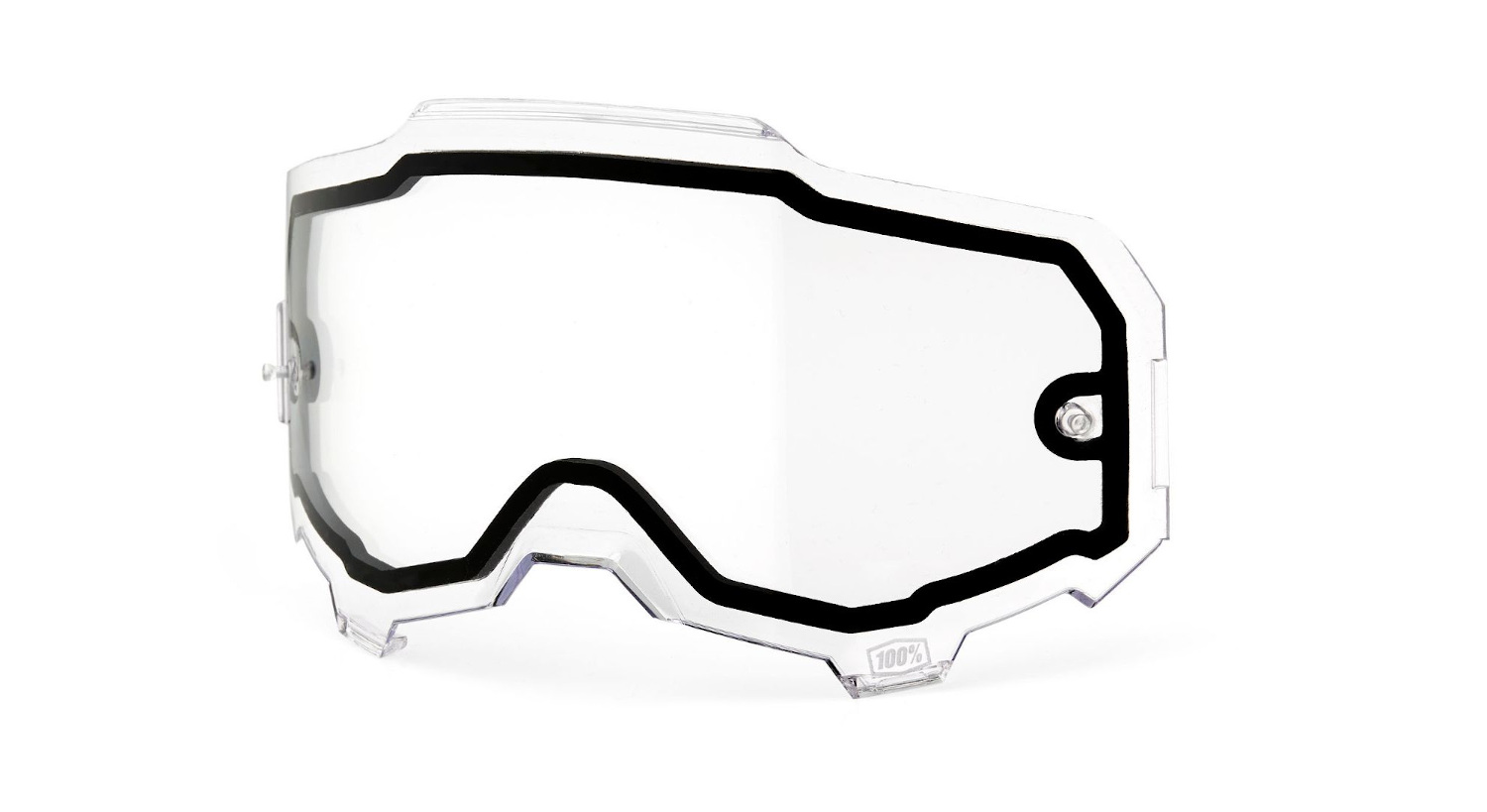 100 Percent Armega Goggle Dual Pane Replacement Lens Clear