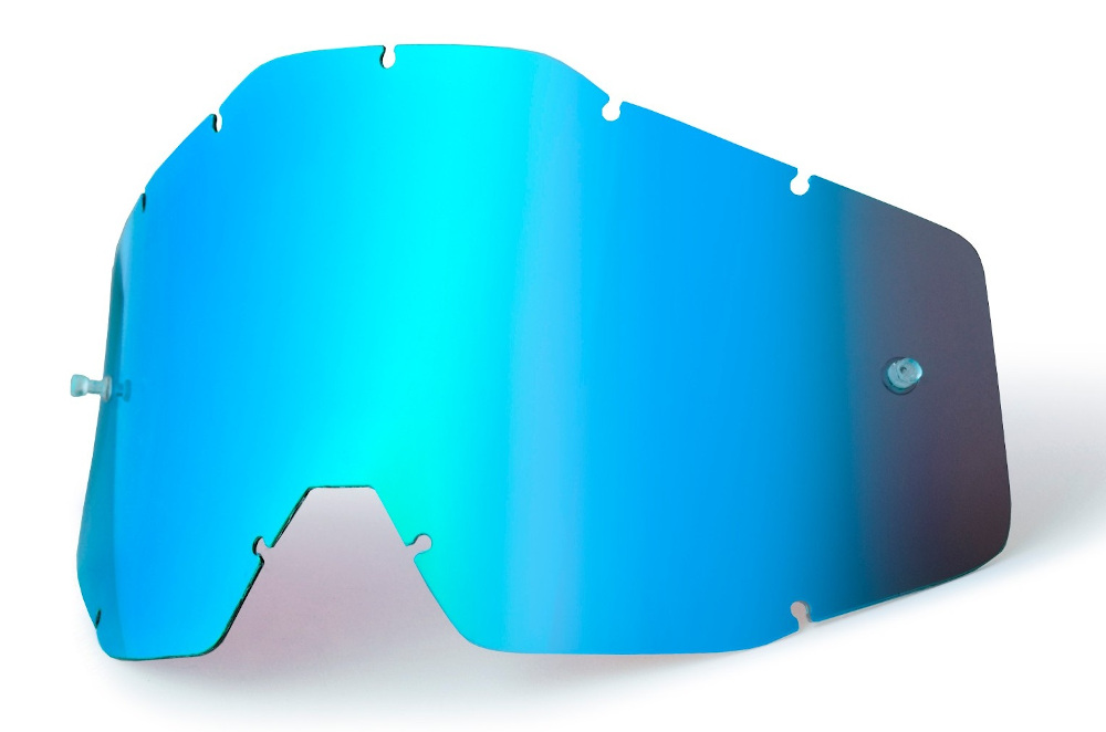 100 Percent Accuri/strata Replacement Anti-fog Youth Lens Blue Mirror