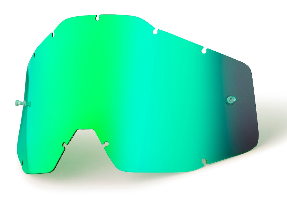 100 Percent Accuri/strata Replacement Anti-fog Youth Lens Green Mirror
