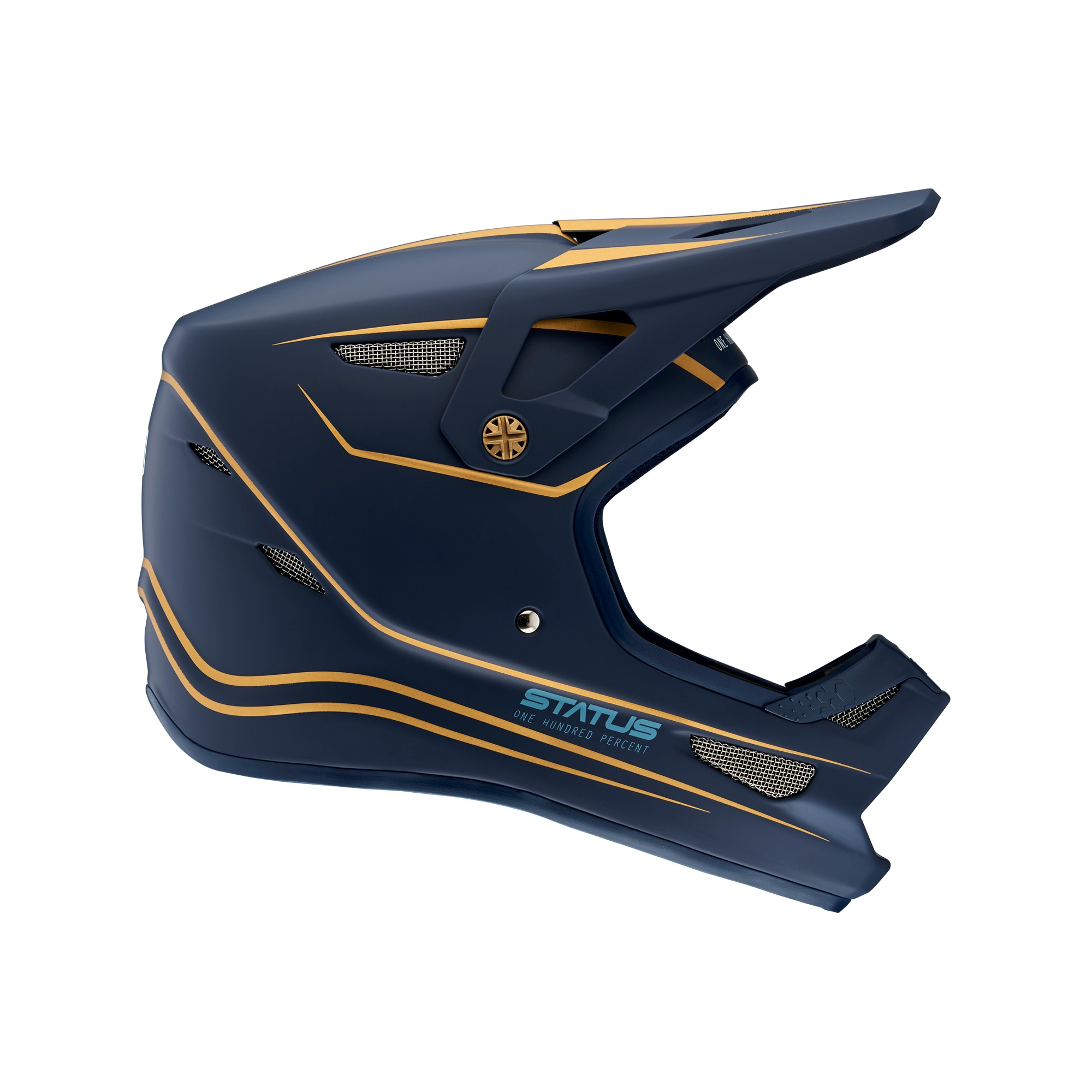 100 Percent Status Full Face Helmet Ltd Navy