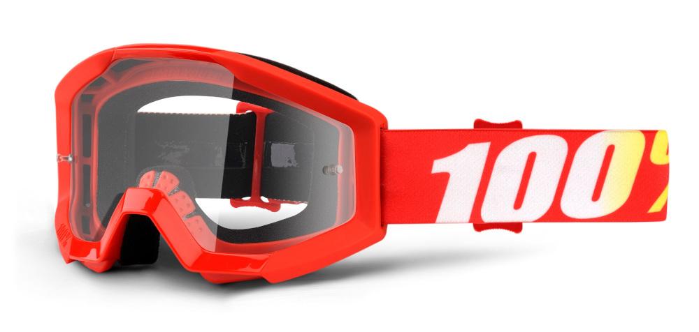 100 Percent Strata Youth Goggles Orange/clear Lens