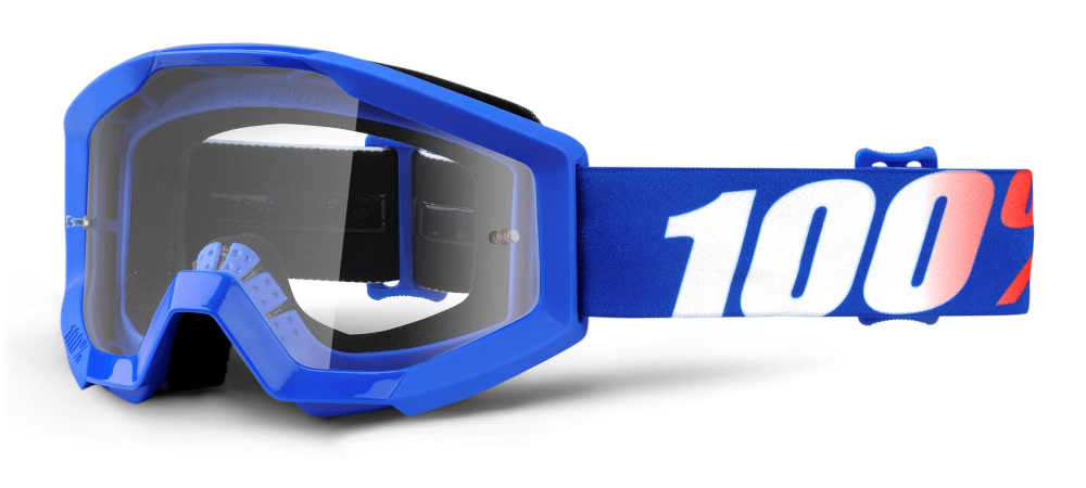 100 Percent Strata Youth Goggles Nation/clear Lens