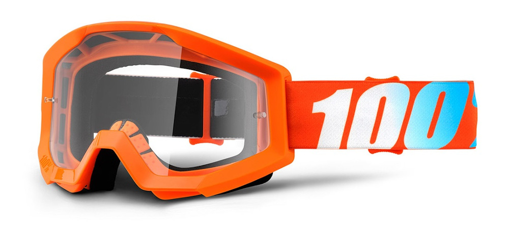 100 Percent Strata Youth Goggles Orange/clear Lens