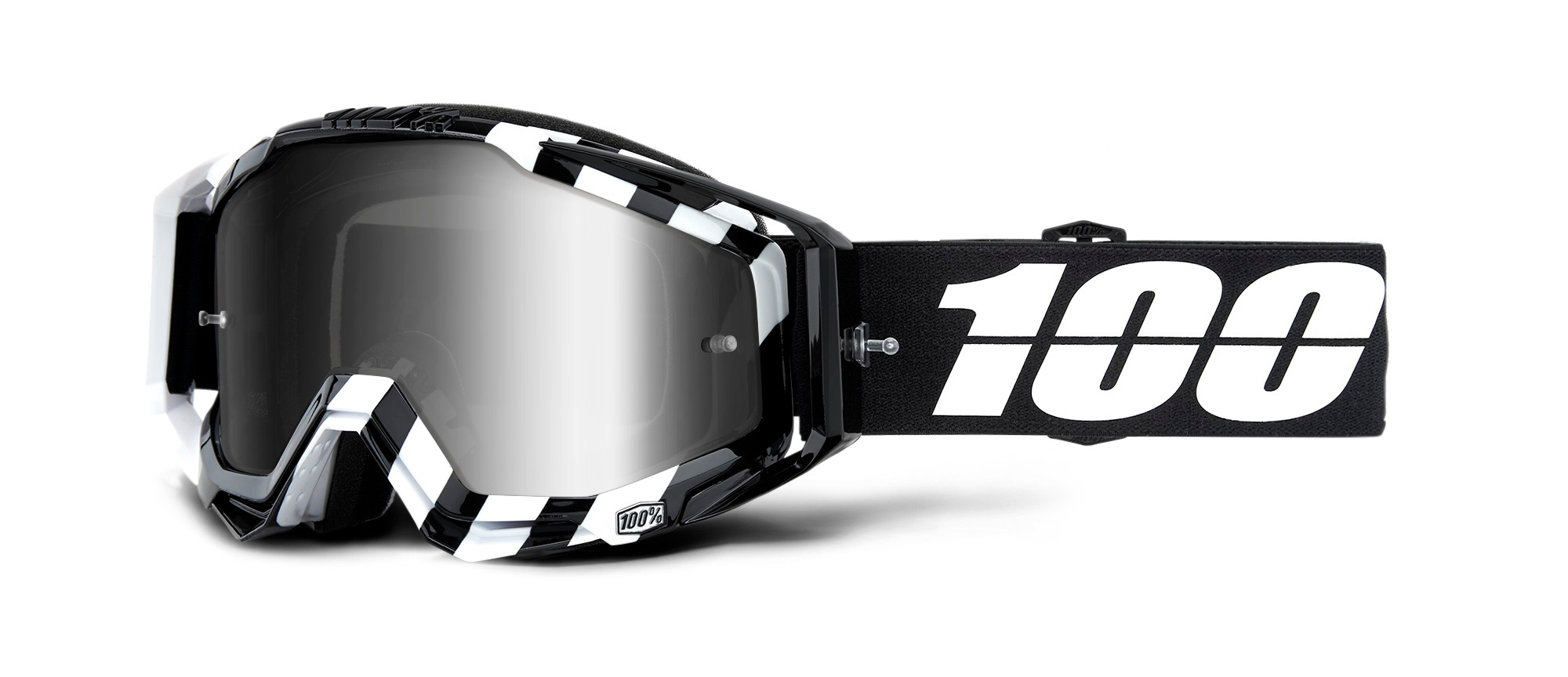 100 Percent Racecraft Goggles Attack Yellow/red Mirrored Lens