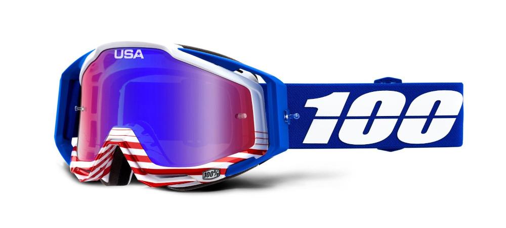 100 Percent Racecraft Goggles Cobalt Blue/clear Lens
