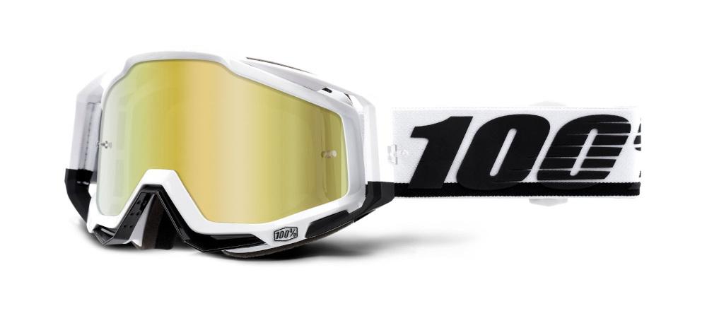 100 Percent Racecraft Snowmobile 1.2 Nose Guard Black/white