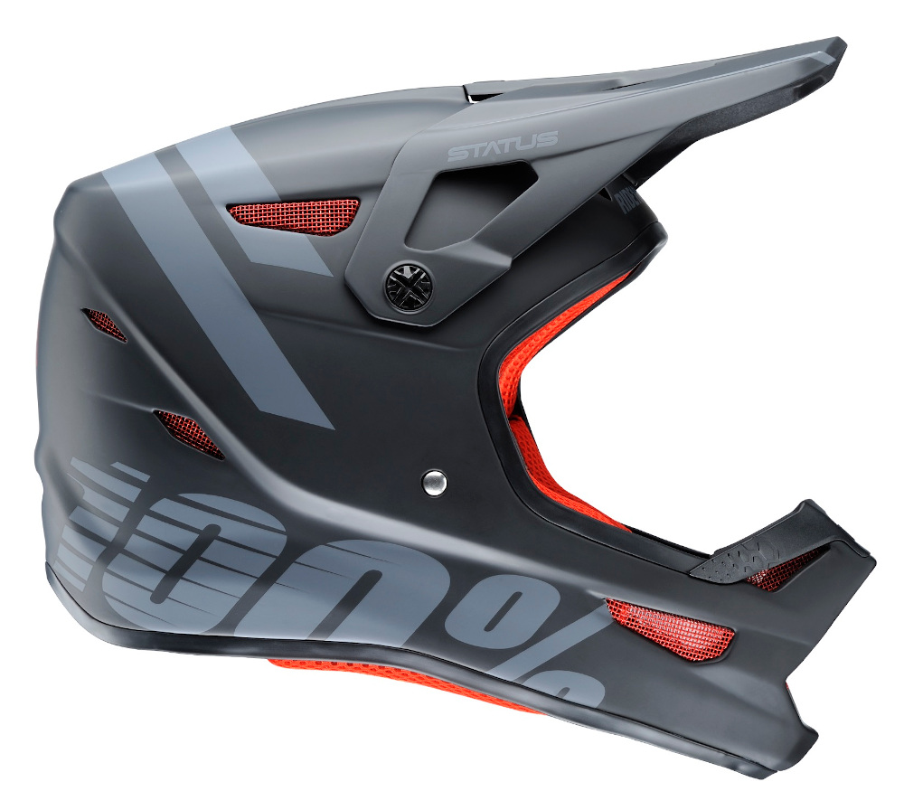 100 Percent Status Full Face Helmet Black Meteor