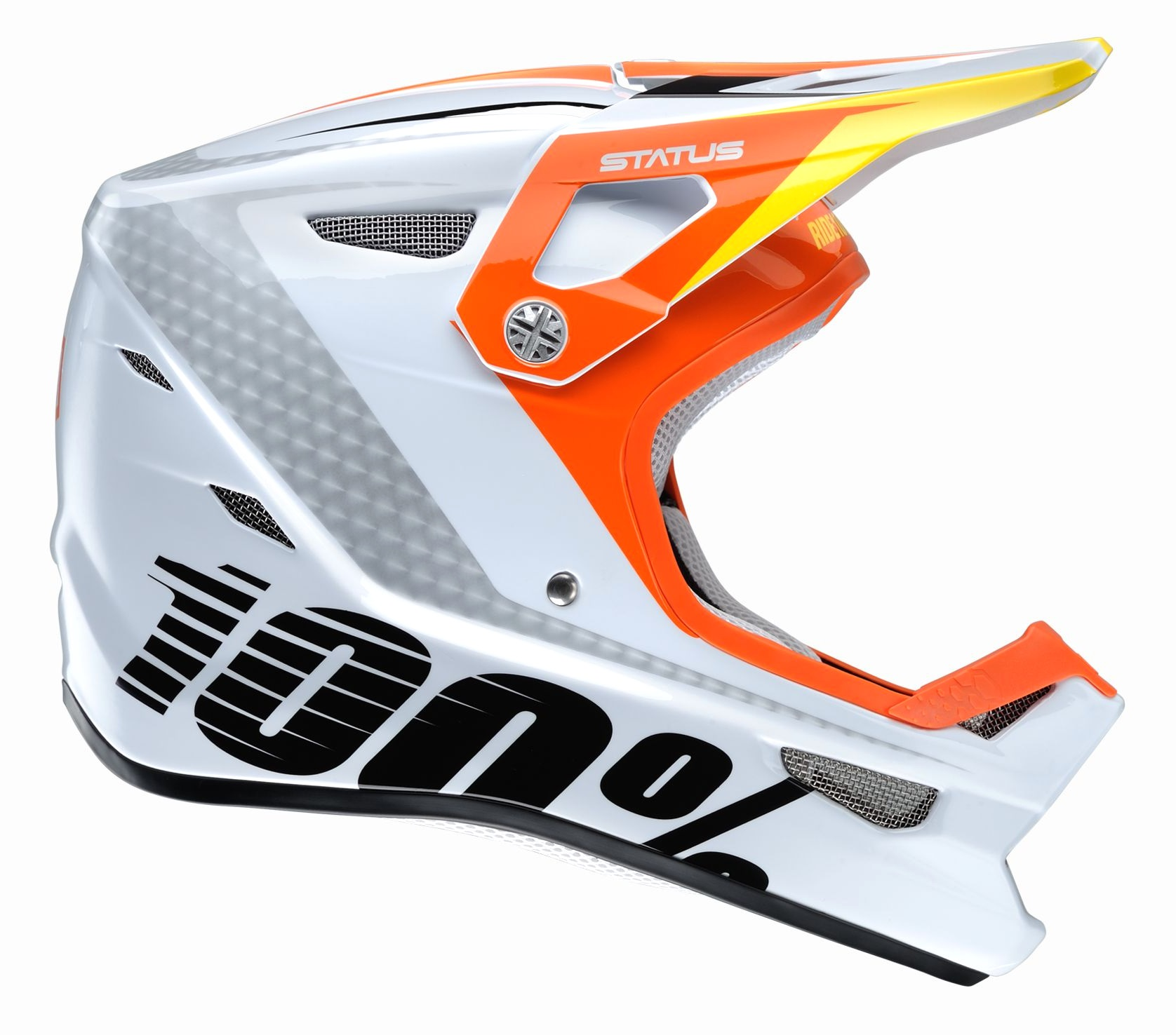 100 Percent Status Youth Full Face Helmet D-day White