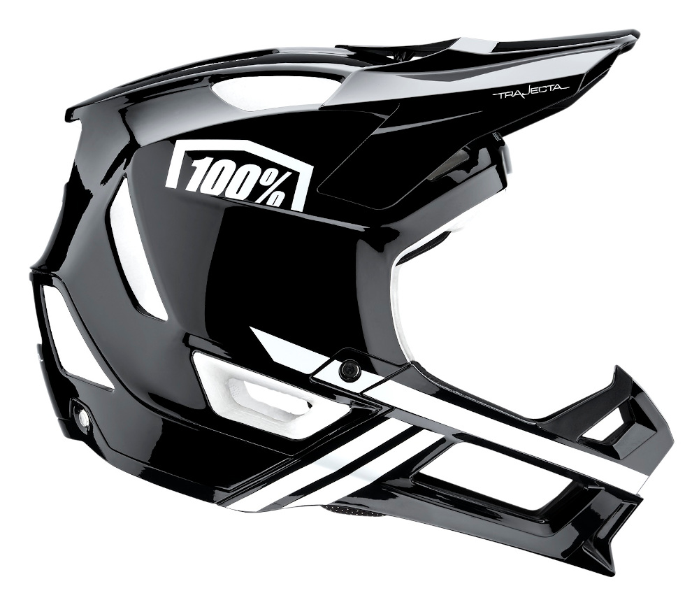 100 Percent Trajecta Full Face Helmet Black/white