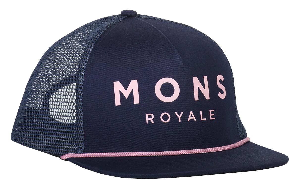 Mons Royale The ACL Trucker Cap Dark Denim/Powder Pink