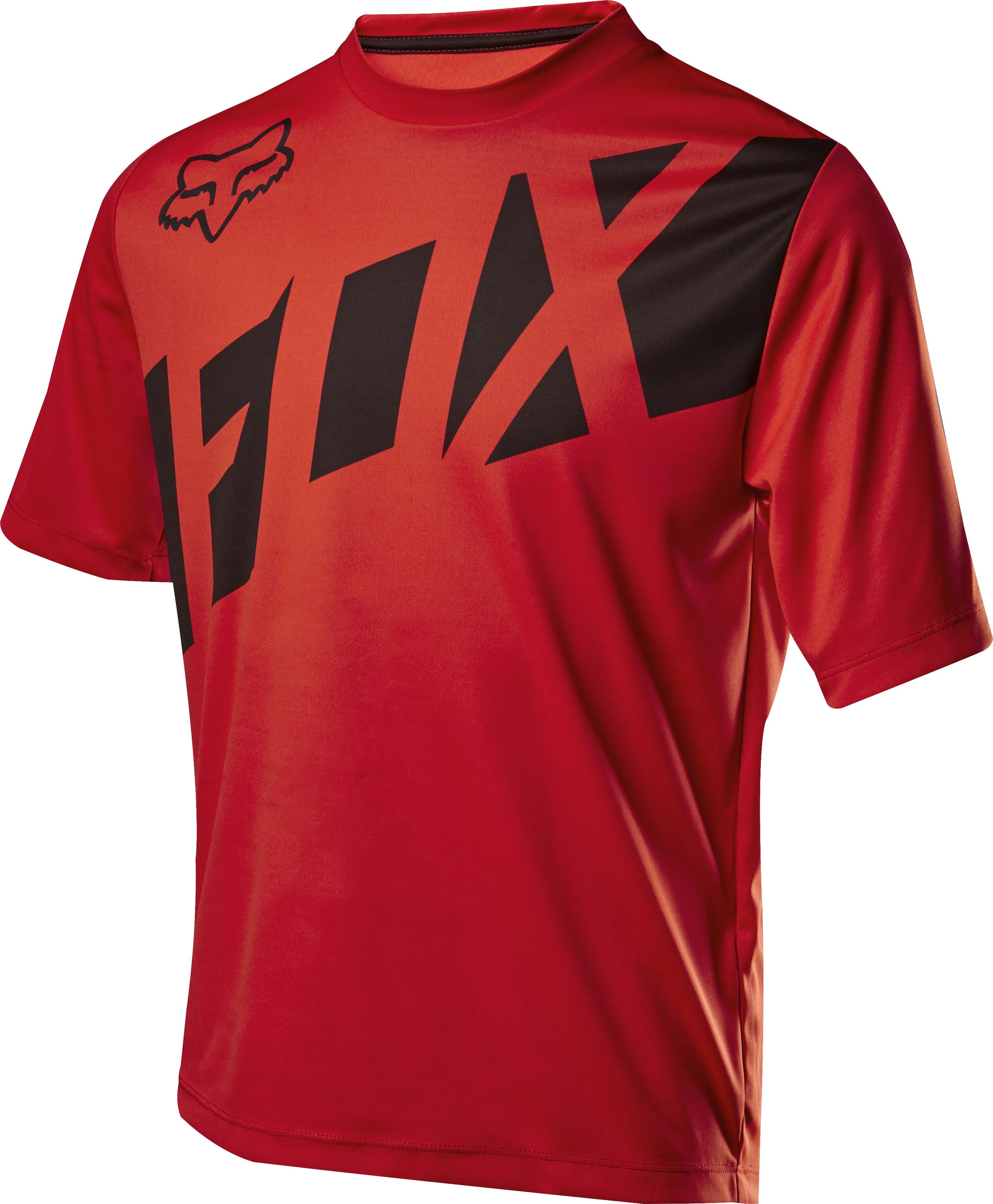 Fox Ranger Shirt SS Jersey Red Black Red Black MTB Mountain Bike Casual