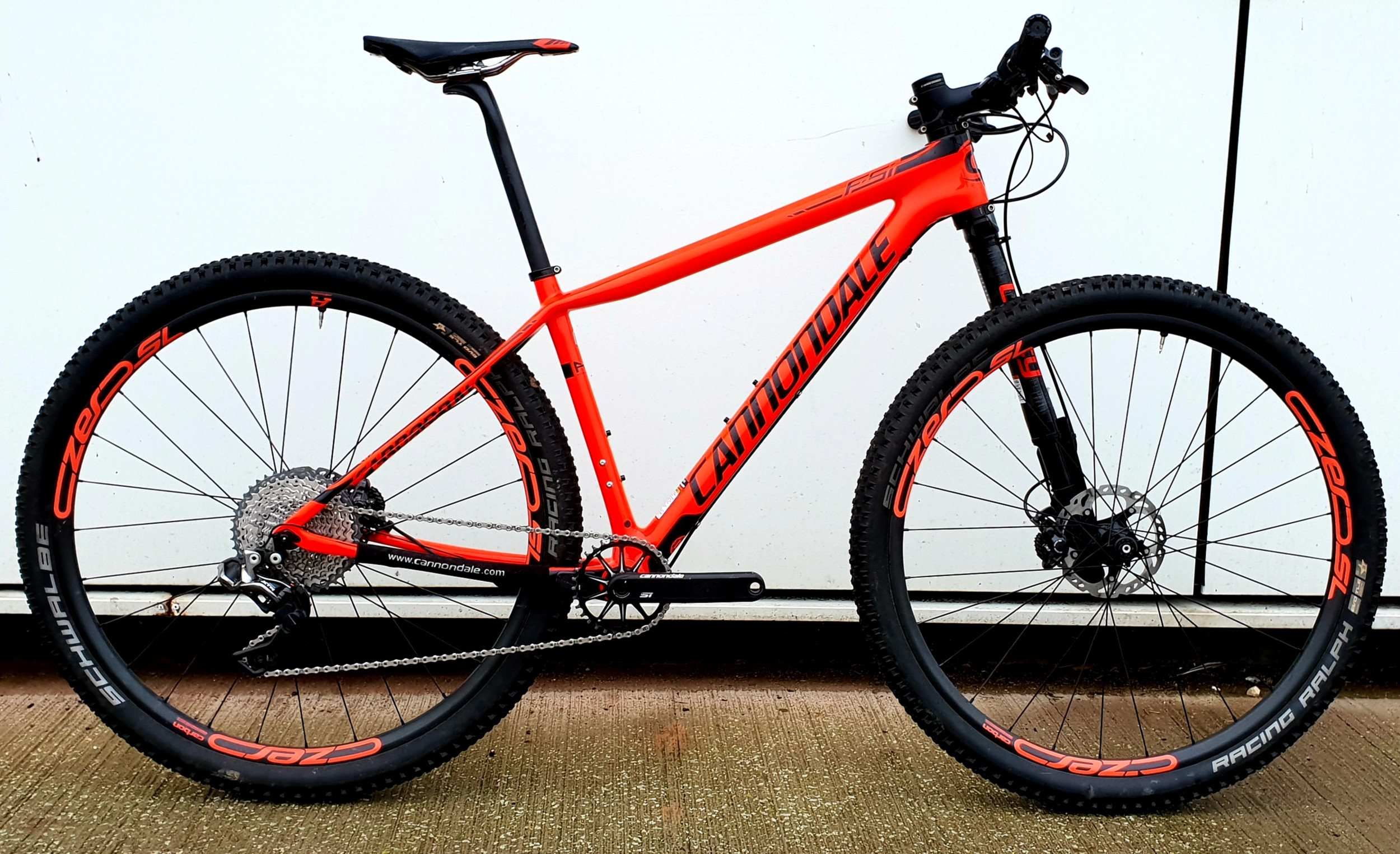 9bcccced351 Second Hand Cannondale FSi Carbon 1 Mountain Bike 2018 Medium Red £2,500.00