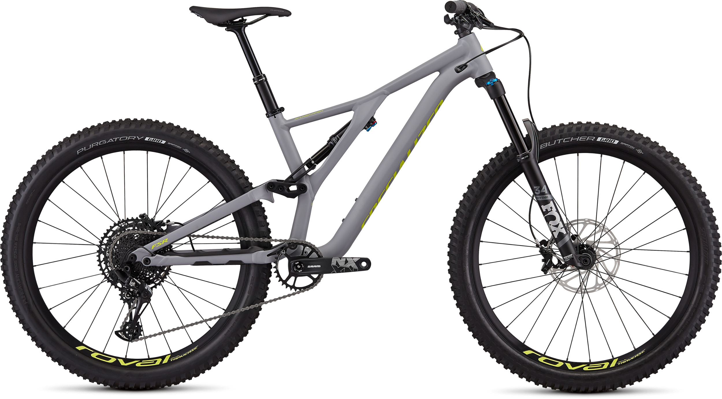 Specialized Stumpjumper Comp Alloy 12 Speed 27.5 2020 Cool Grey/Yellow