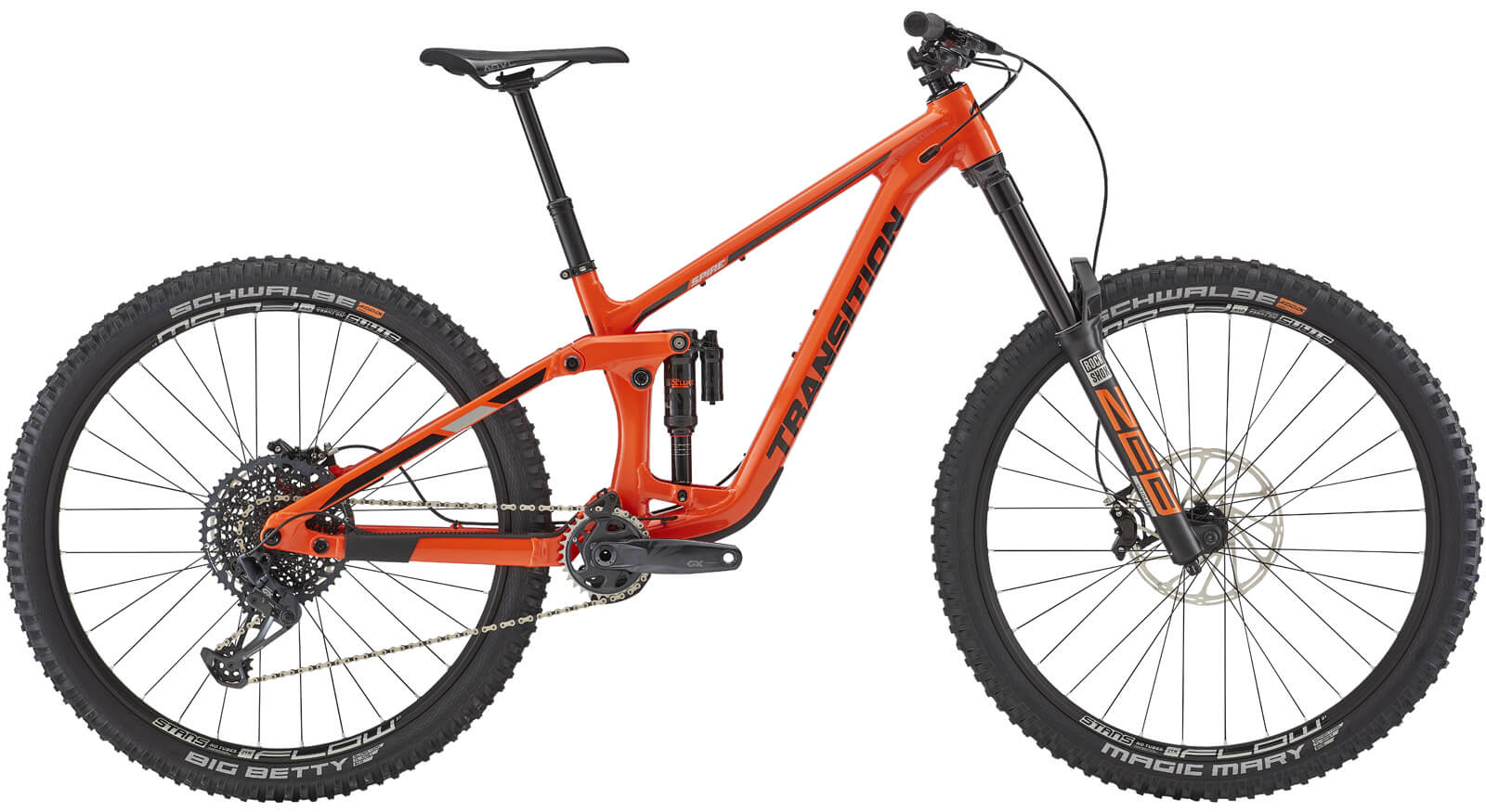 Image of Transition Spire Alloy GX 29er Mountain Bike 2021 Factory Orange
