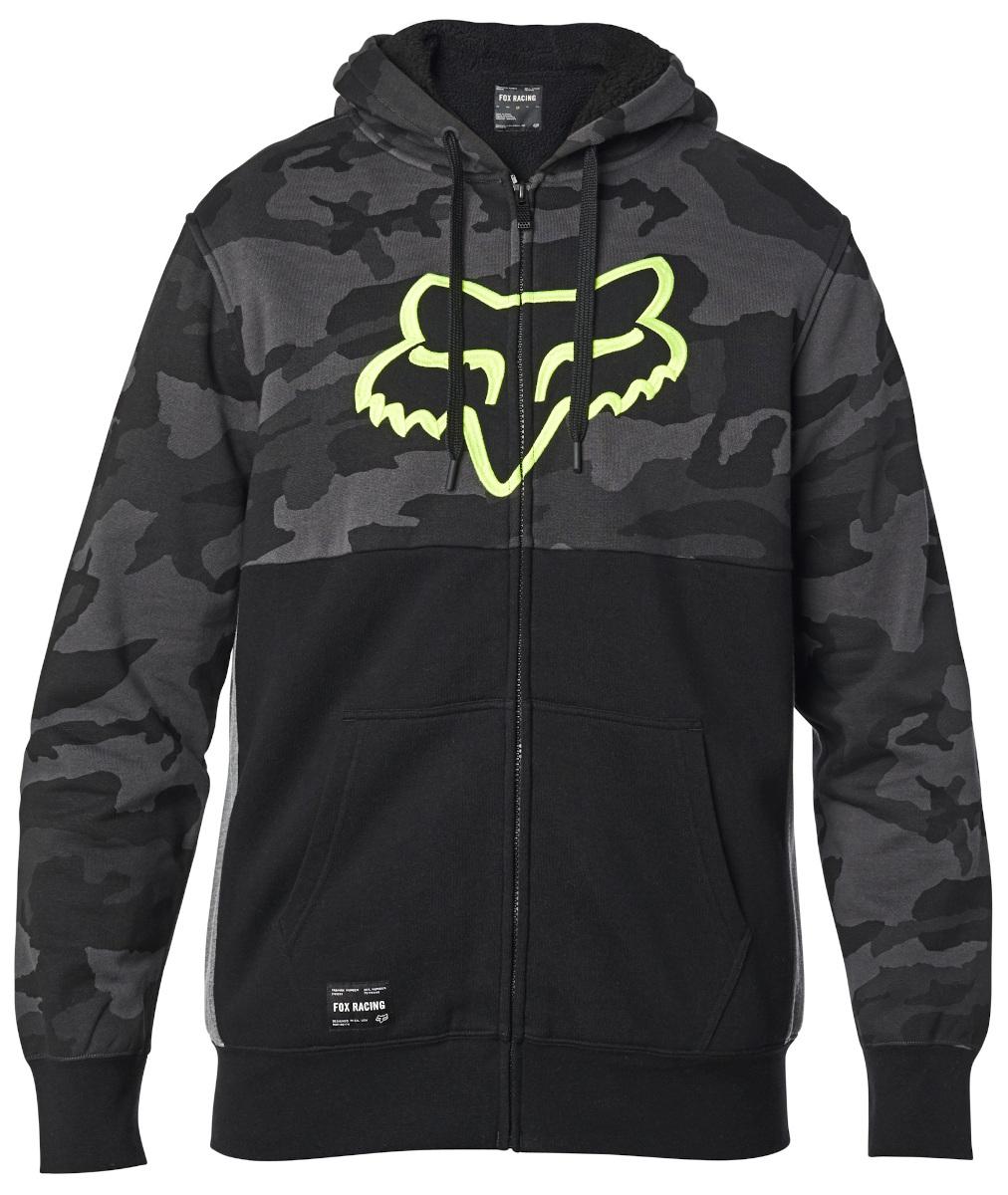 Fox Rebound Sherpa Zip Fleece Hoodie Black Camo