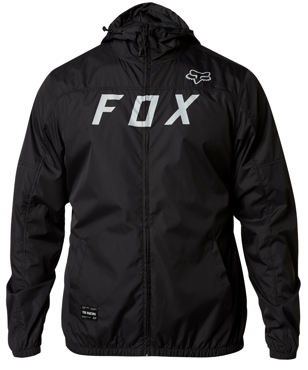 Fox Moth Windbreaker Jacket Black/grey