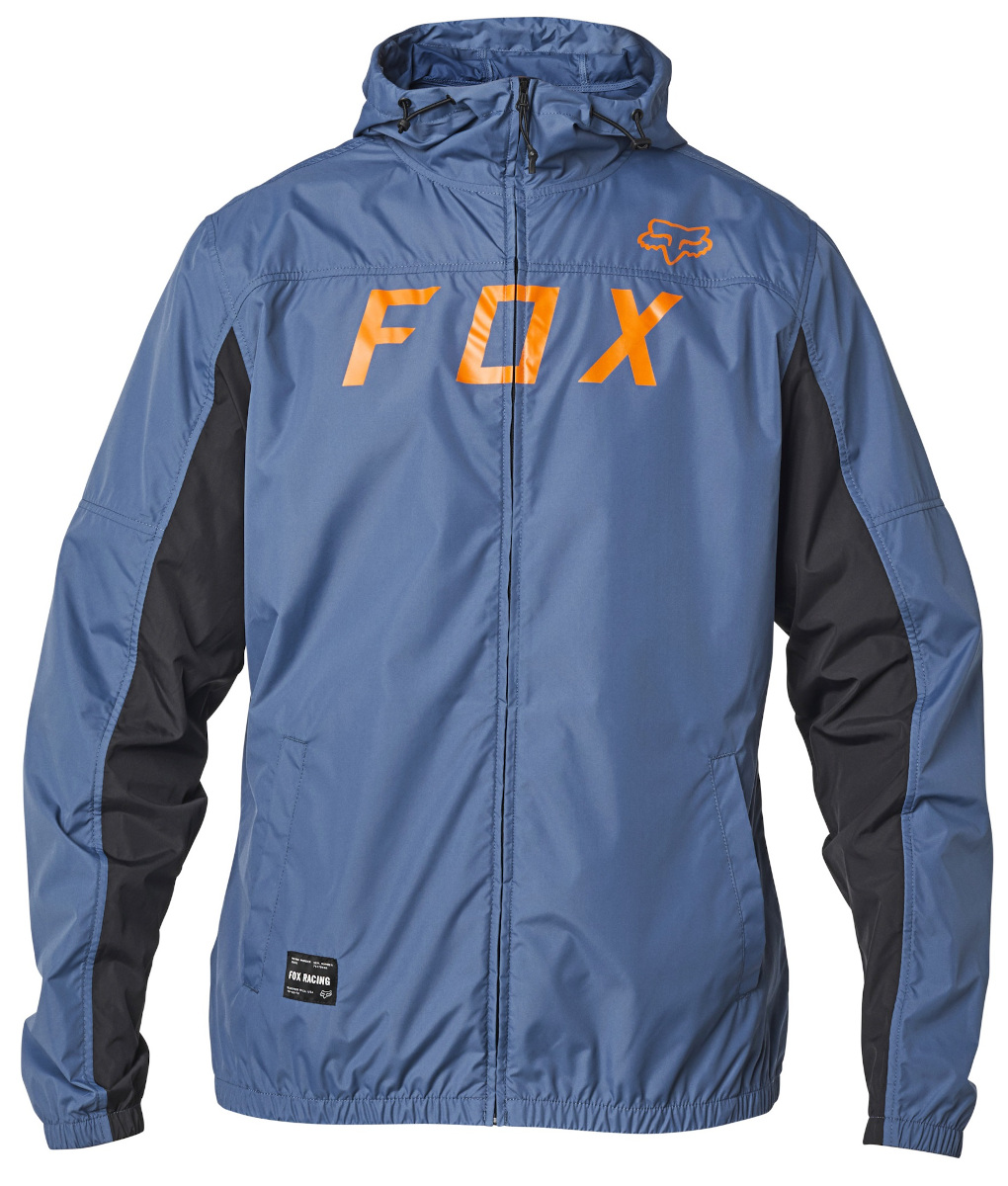 Fox Moth Windbreaker Jacket Blue Steel