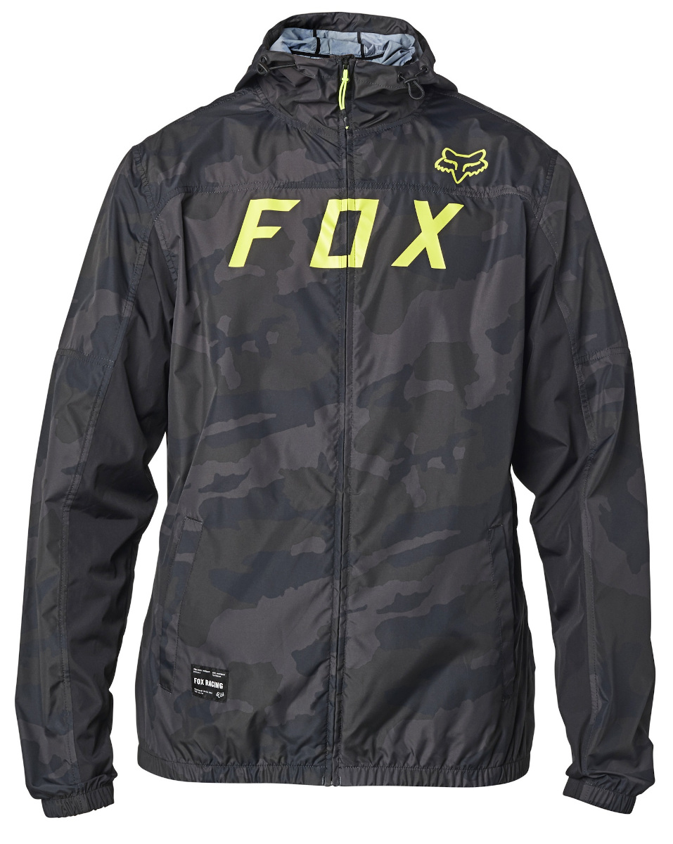 Fox Moth Camo Windbreaker Jacket Black Camo