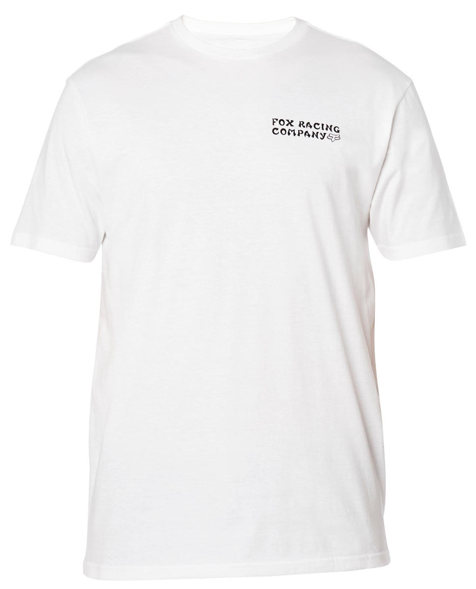 Fox Death Wish Ss Premium Tee Optic White