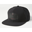 Fox Emblem Snapback Hat Black