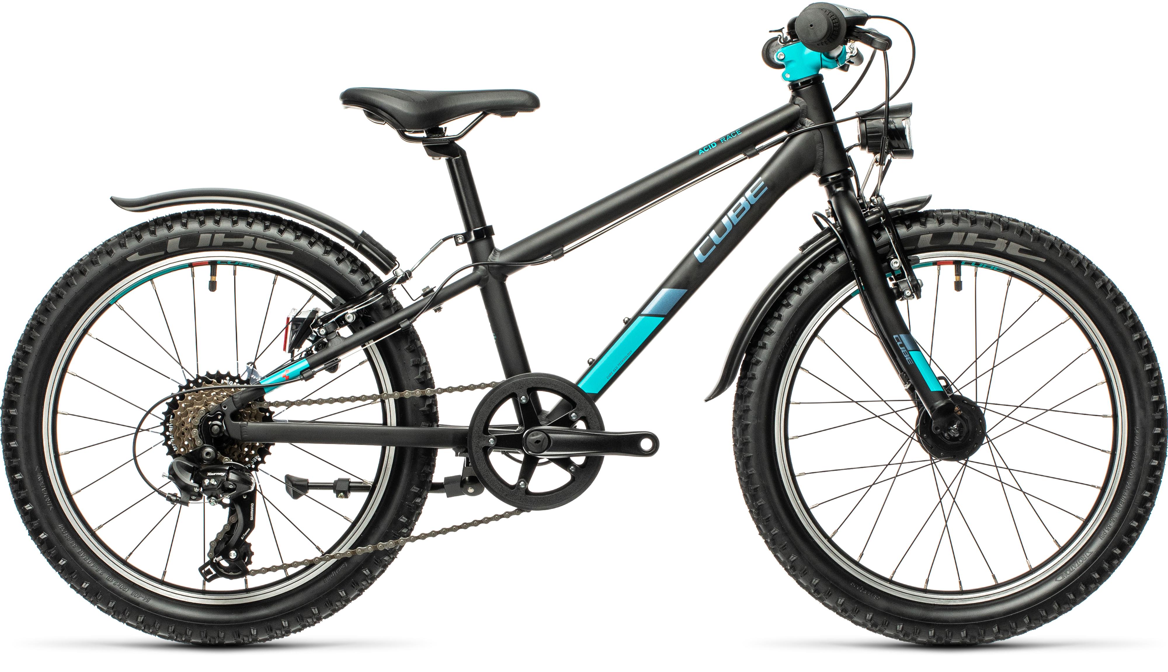 Cube Acid 200 AllRoad 20 Kids Bike 2021 Black/mint