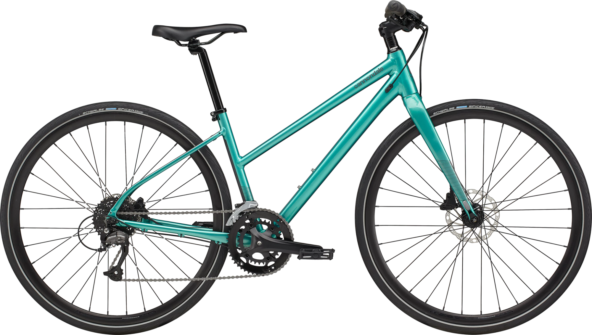 Cannondale Quick Disc 3 Womens Leisure Bike 2021 Remixte Turquoise