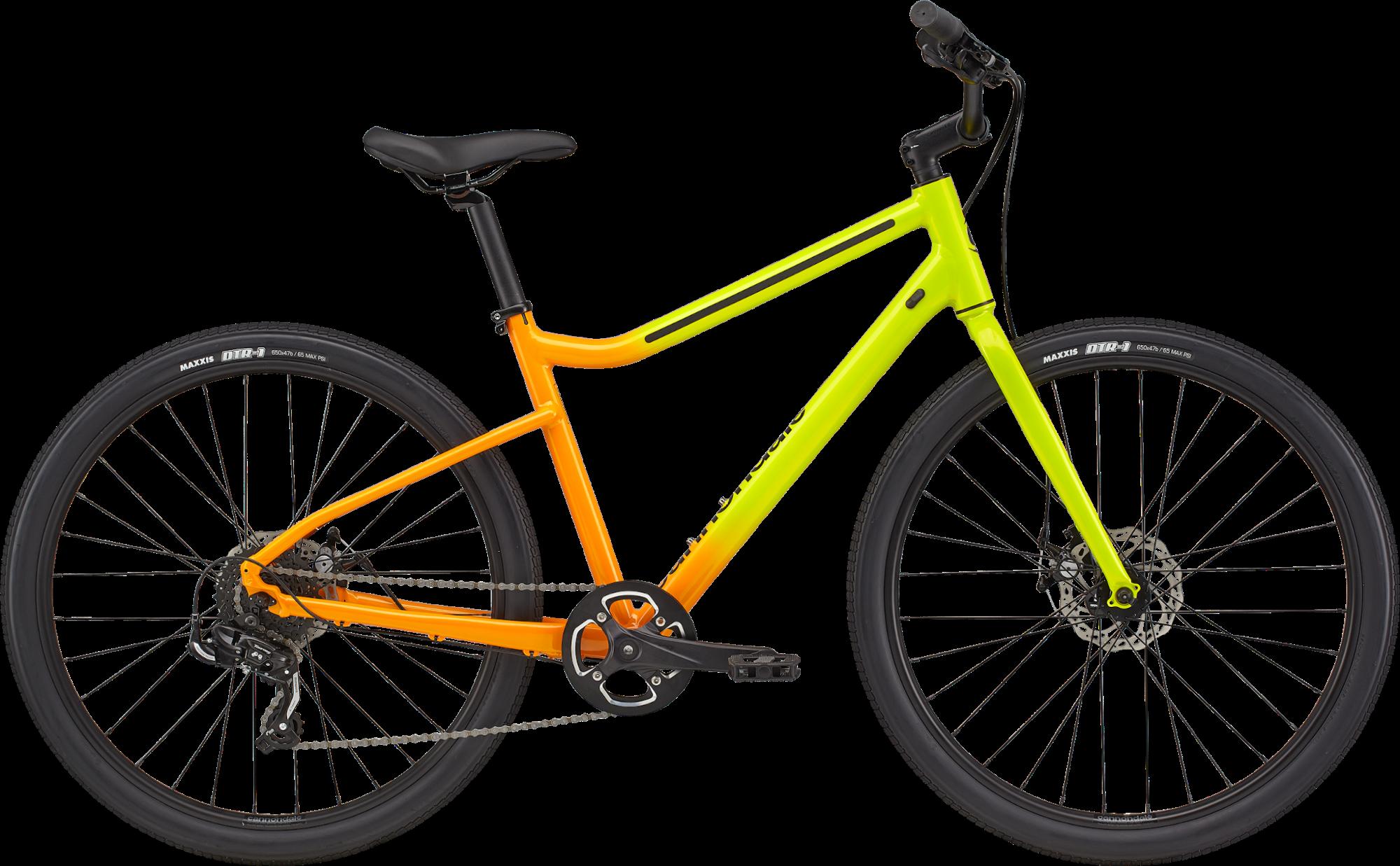 Cannondale Treadwell 3 Ltd Disc Hybrid Bike 2021 Highlighter Fade