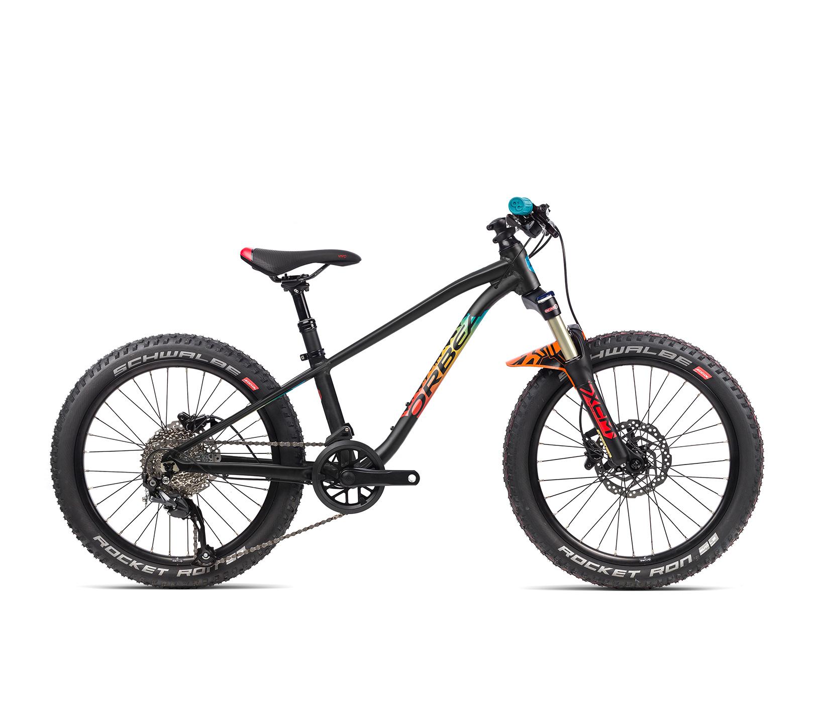 Image of Orbea Laufey H20 20in Wheel Kids Mountain Bike 2021 Black/Rainbow