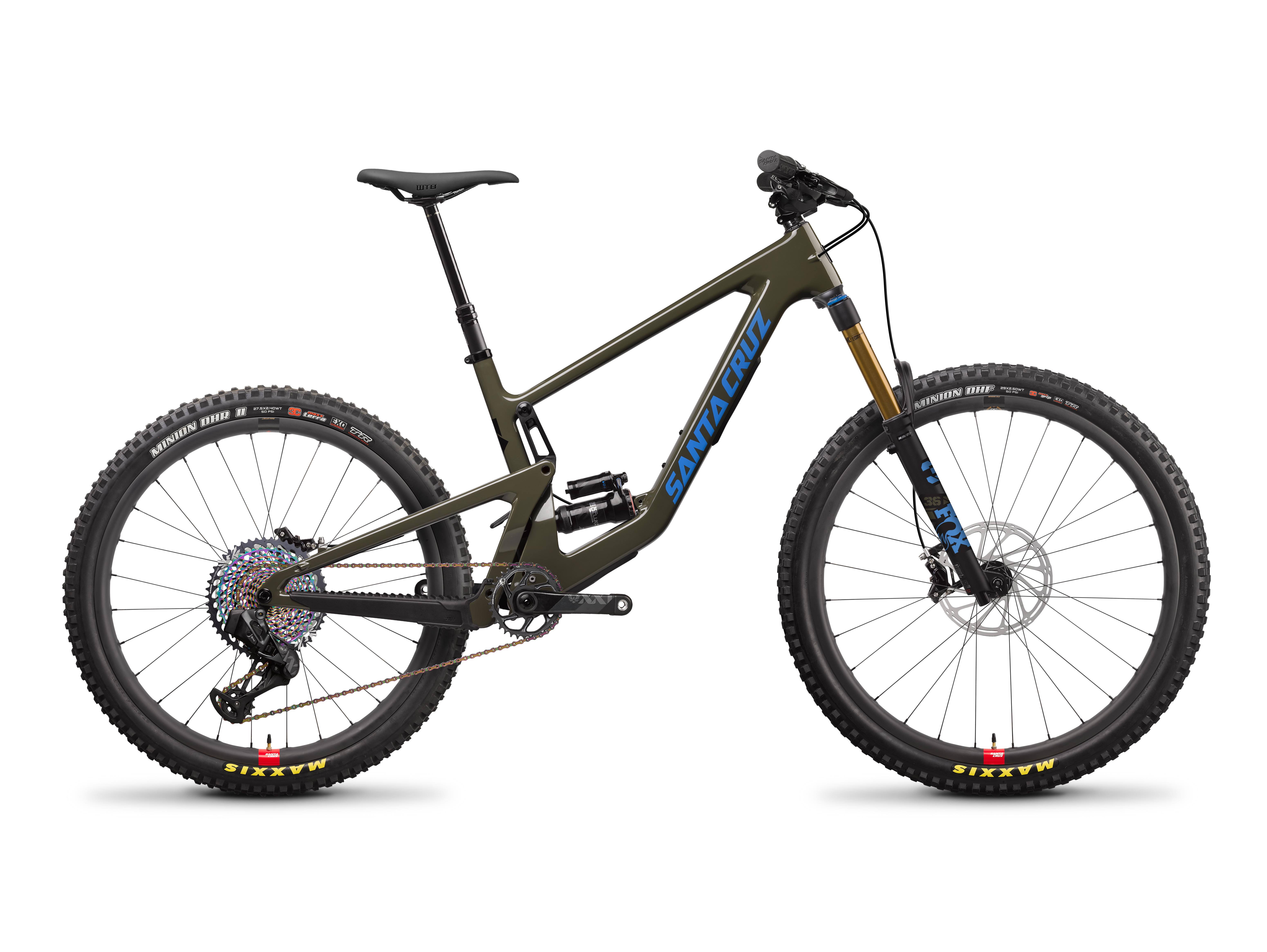 Image of Santa Cruz Bronson CC XX1 AXS Reserve MX Mountain Bike 2022 Moss