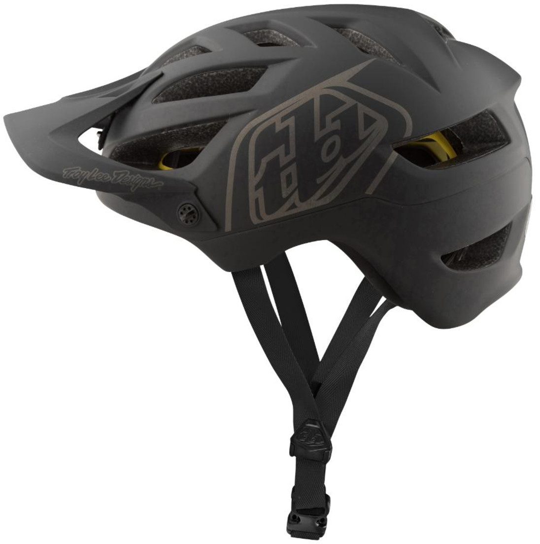 2019 TLD Troy Lee Designs A1 Classic Mips Mountain Bike Helmet Black//Stone