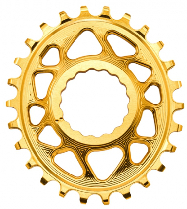Absolute Black Raceface Cinch Direct Mount Boost Oval Chainring Gold