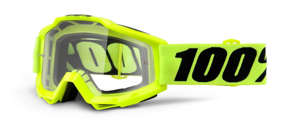 100 Percent Accuri Goggles Fluorescent Yellow/clear Lens