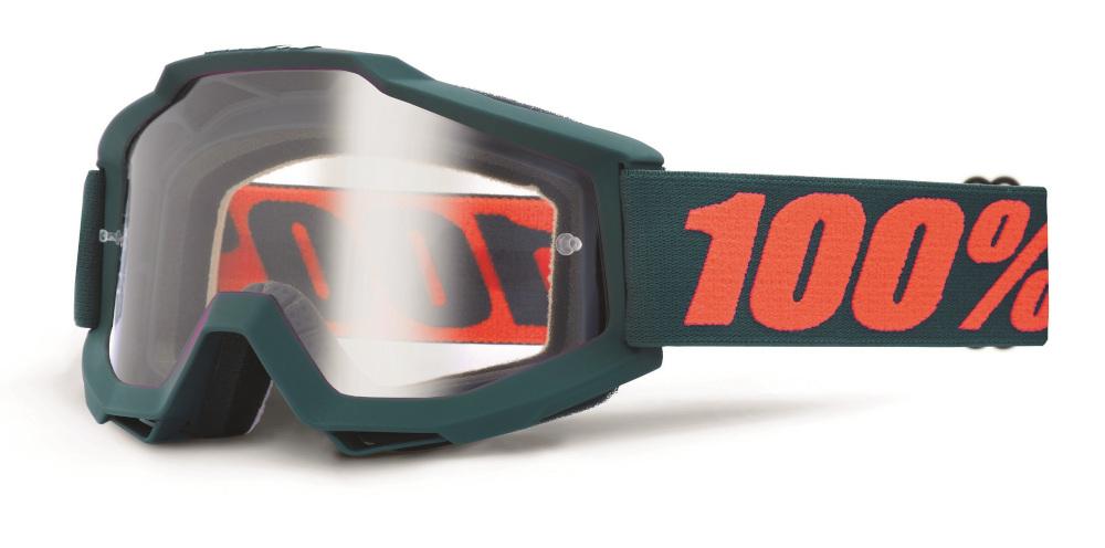 100 Percent Accuri Goggles Gunmetal/clear Lens