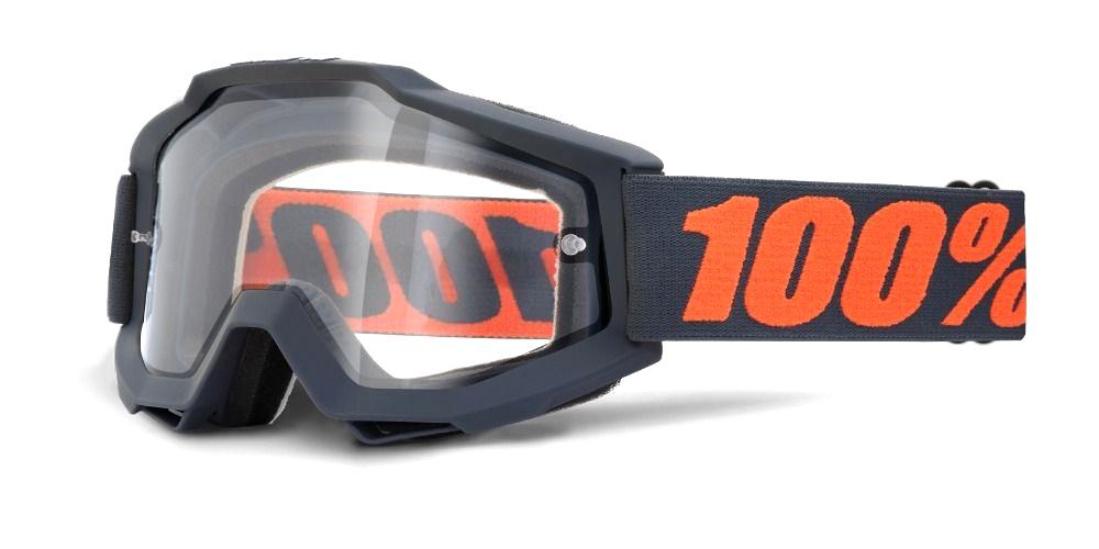 100 Percent Accuri Enduro Moto Goggles Gunmetal/clear Dual Lens