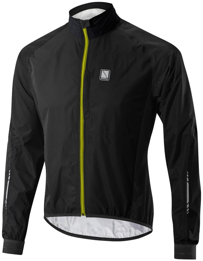 Altura Peloton Mens Waterproof Cycling Jacket Black Hi Vis